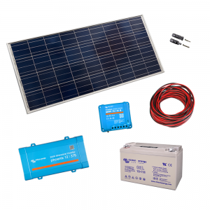 Kit cu panou 260Wp si invertor-375VA