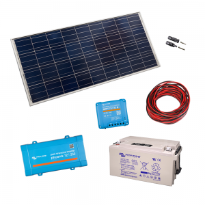 Kit cu panou de 175W - invertor 250VA